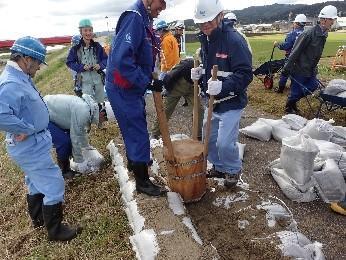 積土のう工