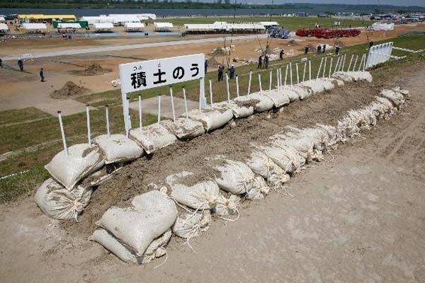 越水防止【積み土のう工】